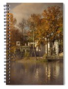 Golden Leaves  Spiral Notebook