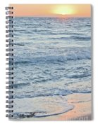 Golden Sunset And Ocean Horizon Spiral Notebook