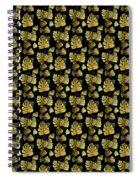 Golden Tropics Pattern Spiral Notebook