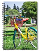 Google Bike Parked Near Googleplex Facility Park Spiral Notebook