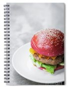 Gourmet Novelty Chicken Burger In Beetroot Bun Spiral Notebook