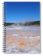 Great Fountain Geyser In Yellowstone National Park Spiral Notebook