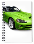 Green 2008 Dodge Viper Srt10 Roadster Spiral Notebook