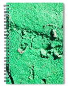 Green Background Spiral Notebook