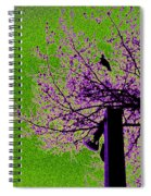 Green Light Night Flight Spiral Notebook