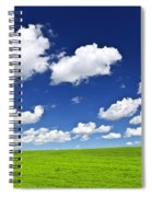Green Rolling Hills Under Blue Sky Spiral Notebook