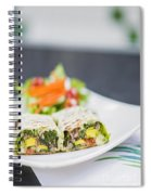 Grilled Vegetable And Salad Wrap Spiral Notebook