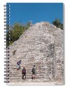 Grupo Nohoch Mul At The Coba Ruins  Spiral Notebook