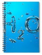 H2o Formula Made By Oxygen Bubbles In Water Spiral Notebook