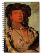 Ha-won-je-tah, One Horn, Head Chief Of The Miniconjou Tribe Spiral Notebook