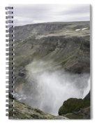 Haifoss Waterfall Iceland 1340 Spiral Notebook