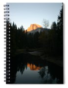 Half Dome Sunset Spiral Notebook