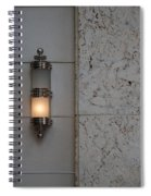 Half Lit Wall Sconce Spiral Notebook