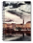 Hamburg At Dusk Spiral Notebook