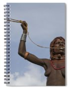 Hamer Tribe Woman, Ethiopia  Spiral Notebook