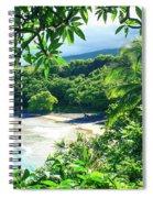 Hamoa Beach Hana Maui Hawaii Spiral Notebook