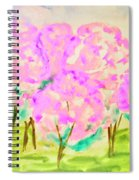 Hand Painted Picture, Spring Garden Spiral Notebook