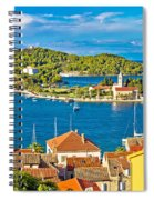 Harbor Of Vis Island Panorama Spiral Notebook