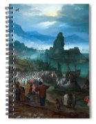 Harbour Scene With Christ Preaching Spiral Notebook