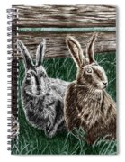 Hare Line  Spiral Notebook