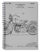 Harley Davidson Motorcycle Patent 1925 Spiral Notebook