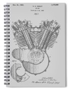 Harley Engine Patent From 1919 Spiral Notebook