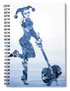 Harley Quinn-blue Spiral Notebook