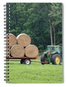 Hauling Hay Spiral Notebook