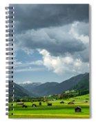 Hay Barns In Oberinntal, Pettneu Am Arlberg Spiral Notebook