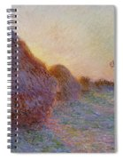 Haystacks Spiral Notebook