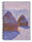 Haystacks, Snow And Sun Effect Spiral Notebook