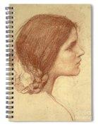 Head Of A Girl Spiral Notebook