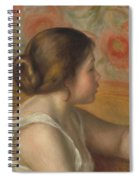 Head Of A Young Girl Spiral Notebook
