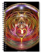 Heart Of Gold Spiral Notebook