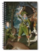 Henry Frederick Prince Of Wales With Sir John Harington In The Hunting Field Spiral Notebook
