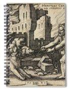 Hercules Capturing Cerberus Spiral Notebook