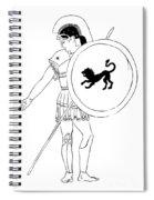 hero - warrior of ancient Greece Spiral Notebook