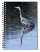 Heron Reflection Spiral Notebook