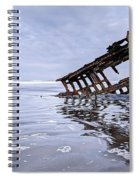 The Peter Iredale Wreck, Cannon Beach, Oregon Spiral Notebook