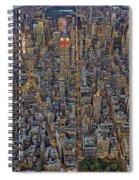 High Over Manhattan Spiral Notebook