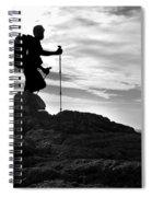 Hiker Silhouette Spiral Notebook