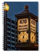 Historic Clock - Beaumont Texas Spiral Notebook