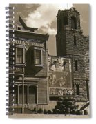 Holy Angel's Catholic Church Rectory  Belles Indian Saloon   The Great White Hope Set Globe Az 1969 Spiral Notebook