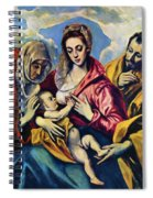 Holy Family With St Anne Spiral Notebook
