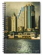 Honolulu Harbor Spiral Notebook