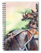 Horse Art In Watercolor Spiral Notebook