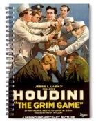 Houdini In The Grim Game 1919 Spiral Notebook