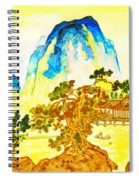 House In Mountains Spiral Notebook