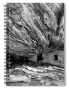 House On Fire Ruin Utah Monochrome 2 Spiral Notebook