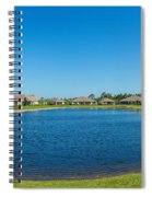 Houses Around Small Lake In North Port Spiral Notebook